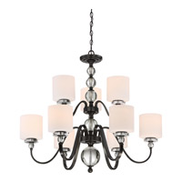 Quoizel Downtown 9 Light Foyer Chandelier in Dusk Bronze DW5009D