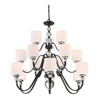 Downtown 15 Light 44 inch Dusk Bronze Foyer Chandelier Ceiling Light