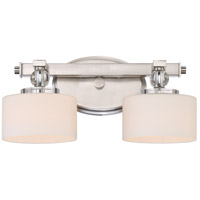 Quoizel DW8602BN Devlin 2 Light 15 inch Brushed Nickel Bath Light Wall Light, Medium