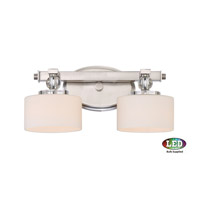 Downtown LED 15 inch Brushed Nickel Bath Light Wall Light in Frosted LED G9