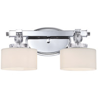 Quoizel Lighting Downtown 2 Light Bath Vanity in Polished Chrome DW8602C