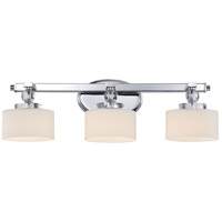 Quoizel Lighting Downtown 3 Light Bath Light in Polished Chrome DW8603C