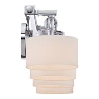 Quoizel DW8604C Downtown 4 Light 34 inch Polished Chrome Bath Light Wall Light in Frosted Halogen G9 alternative photo thumbnail