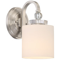 Quoizel Downtown 1 Light Wall Sconce in Brushed Nickel DW8701BN