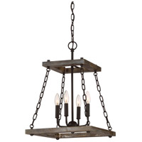 Quoizel DWL5204WT Dwelling 4 Light 15 inch Western Bronze Chandelier Ceiling Light
