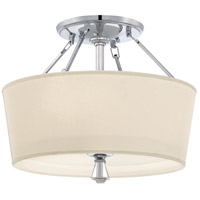 Deluxe 3 Light 18 inch Polished Chrome Semi-Flush Mount Ceiling Light
