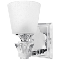 Deluxe 1 Light 8 inch Polished Chrome Bath Light Wall Light