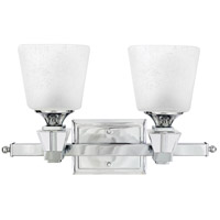 Quoizel Lighting Deluxe 2 Light Bath Vanity in Polished Chrome DX8602C
