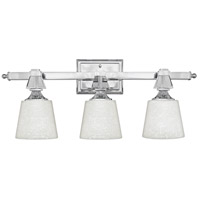 Deluxe 3 Light 26 inch Polished Chrome Bath Light Wall Light