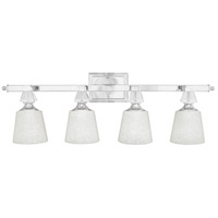 Deluxe 4 Light 34 inch Polished Chrome Bath Light Wall Light