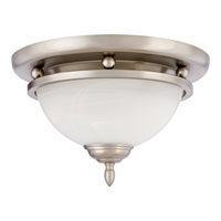 Quoizel Lighting Delray 2 Light Flush Mount in Empire Silver DY1604ES photo thumbnail