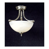 Quoizel Lighting Delray 2 Light Semi-Flush Mount in Empire Silver DY1606ES alternative photo thumbnail