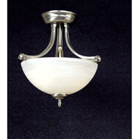 Quoizel Lighting Delray 2 Light Semi-Flush Mount in Empire Silver DY1606ES photo thumbnail