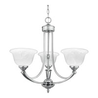 Quoizel Lighting Delray 3 Light Chandelier in Empire Silver DY3034ES