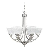 Quoizel Lighting Delray 6 Light Chandelier in Empire Silver DY5072ES