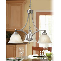 Quoizel Lighting Delray 3 Light Chandelier in Empire Silver DY5103ES alternative photo thumbnail