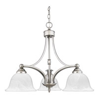 Quoizel Lighting Delray 3 Light Chandelier in Empire Silver DY5103ES