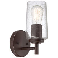 Edison 1 Light 7 inch Western Bronze Bath Light Wall Light