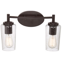 Quoizel Lighting Edison 2 Light Bath Vanity in Western Bronze EDS8602WT