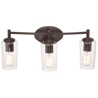 Quoizel Edison 3 Light Bath Light in Western Bronze EDS8603WT