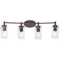 Quoizel Lighting Edison 4 Light Bath Vanity in Western Bronze EDS8604WT