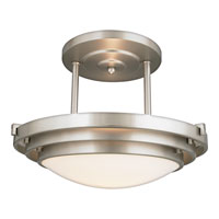 Quoizel Lighting Electra 1 Light Semi-Flush Mount in Brushed Chrome EL1284CB