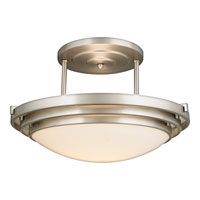 Electra 1 Light 16 inch Brushed Chrome Semi-Flush Mount Ceiling Light