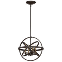 Eons 4 Light 15 inch Western Bronze Semi-Flush Mount Ceiling Light