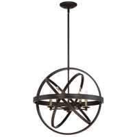 Eons 5 Light 23 inch Western Bronze Pendant Ceiling Light