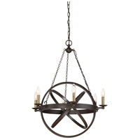Eons 6 Light 26 inch Western Bronze Chandelier Ceiling Light