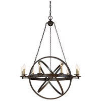 Eons 9 Light 32 inch Western Bronze Chandelier Ceiling Light