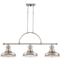 Emery 3 Light 53 inch Brushed Nickel Island Light Ceiling Light