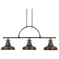 Emery 3 Light 53 inch Palladian Bronze Island Light Ceiling Light