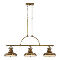 Quoizel Emery 3 Light Island Chandelier in Weathered Brass ER353WS