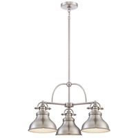 Quoizel Emery 3 Light Chandelier in Brushed Nickel ER5103BN