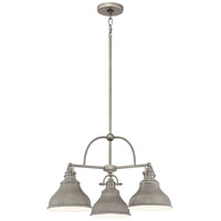 Emery 3 Light 24 inch Distressed Nickel Dinette Chandelier Ceiling Light, Medium