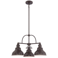 Quoizel Emery 3 Light Chandelier in Palladian Bronze ER5103PN
