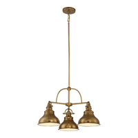 Quoizel Emery 3 Light Dinette Chandelier in Weathered Brass ER5103WS
