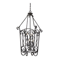 Estate 6 Light 20 inch Imperial Bronze Foyer Chandelier Ceiling Light in B10 Candelabra Base