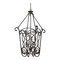 Quoizel Estate 8 Light Foyer Chandelier in Imperial Bronze EST5208IB