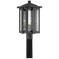 Everglade 1 Light 20 inch Earth Black Outdoor Post Lantern in Incandescent
