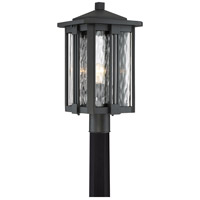 Everglade 1 Light 20 inch Earth Black Outdoor Post Lantern