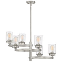 Evolution 6 Light 27 inch Brushed Nickel Chandelier Ceiling Light