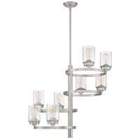 Quoizel EVL5008BN Evolution 8 Light 28 inch Brushed Nickel Chandelier Ceiling Light
