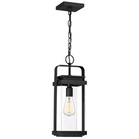 Quoizel EXH1908EK Exhibit 1 Light 8 inch Earth Black Outdoor Hanging Lantern Large