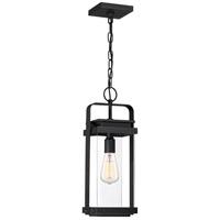 Quoizel EXH1908EK Exhibit 1 Light 8 inch Earth Black Outdoor Hanging Lantern, Large