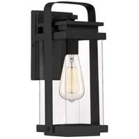 Quoizel EXH8406EK Exhibit 1 Light 12 inch Earth Black Outdoor Wall Lantern Small