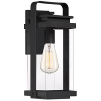 Quoizel EXH8407EK Exhibit 1 Light 15 inch Earth Black Outdoor Wall Lantern Medium