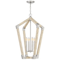 Fable 4 Light 22 inch Antique Nickel Foyer Chandelier Ceiling Light