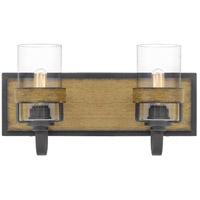 Quoizel FIN8616AWN Finch 2 Light 16 inch Aged Walnut Bath Light Wall Light